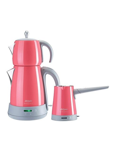 Arzum AR3029 Ehlikeyif Delux Çay ve Kahve Makinesi Seti Mercan